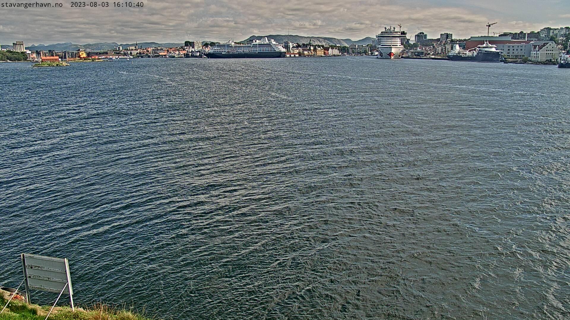 Bildet vises fra Tjuvholmen mot sør og oppdateres hvert 5. minutt
