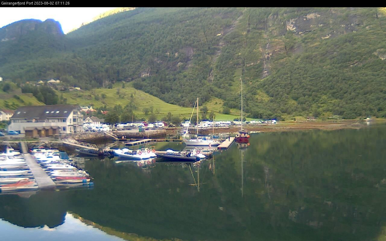 Webcam Geiranger, Stranda, Møre og Romsdal, Norwegen